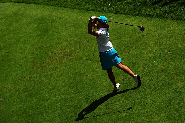 Annika Sorenstam was one-stroke behind Ochoa at five under par.