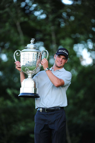 won his first major championship Sunday at Whistling Straits in a three-hole playoff over Bubba Watson.