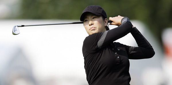 Shi Hyun Ahn made an ace on No. 16 and shot a four-under 67.