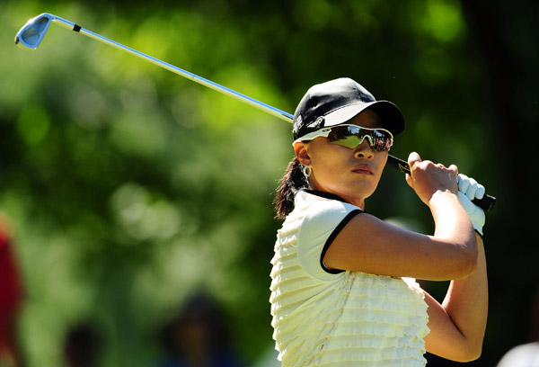 Pak birdied her last two holes to finish in second place.