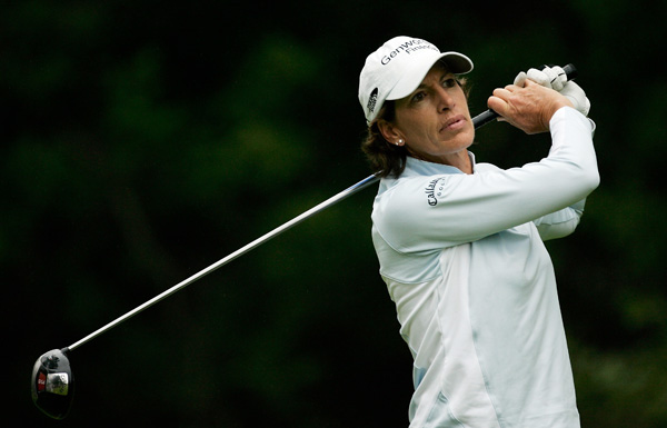 Juli Inkster followed rounds of 68-66 with a two-over 73.