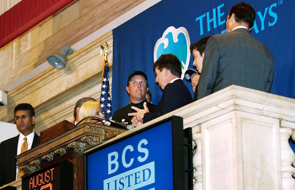 PGA Tour Comes to New York City: TuesdayPhil Mickelson rang the opening bell at the New York Stock Exchange.