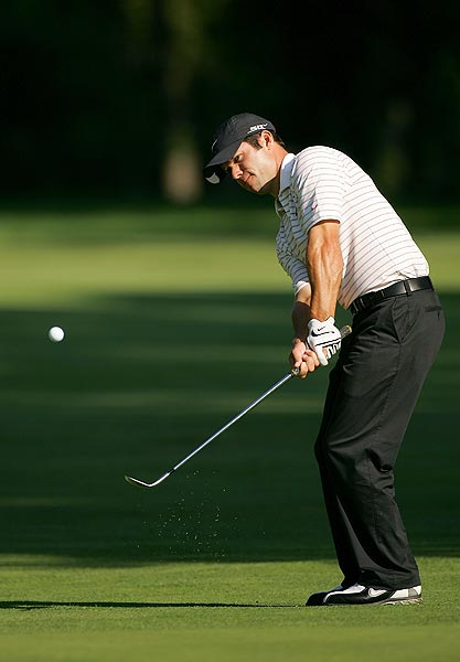 Paul Casey is alone in second at five under par.
