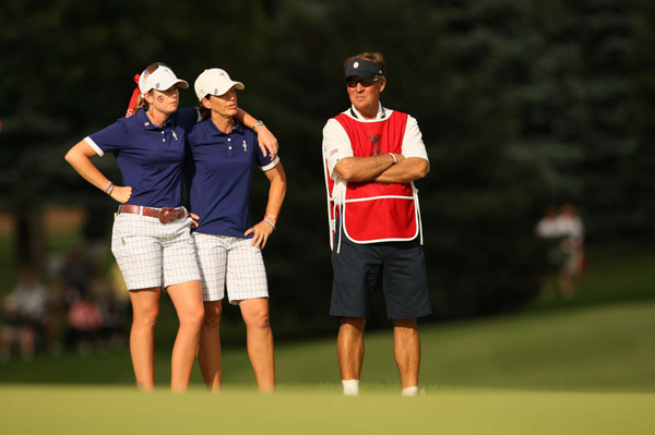 Saturday Afternoon Foursomes Matches at the 2009 Solheim Cup                                                      Paula Creamer (left) and Juli Inkster got crushed 4&3 in the opening match as Europe stormed back to tie the Solheim Cup 8-8 heading into Sunday's singles matches.