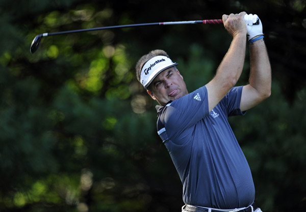 Kenny Perry, the FedEx Cup points leader, shot a four-under 67.