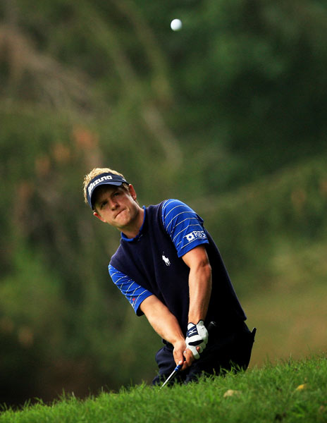 Luke Donald made birdies on Nos. 4 and 6, but he started the back nine with a bogey on 10. He is at three under par.