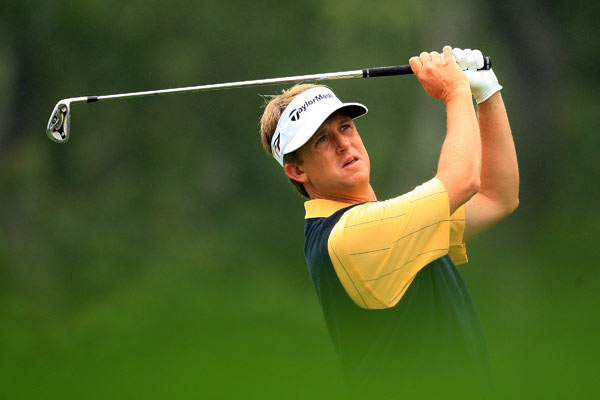 David Toms made double bogeys on 13 and 16 and finished two over par.