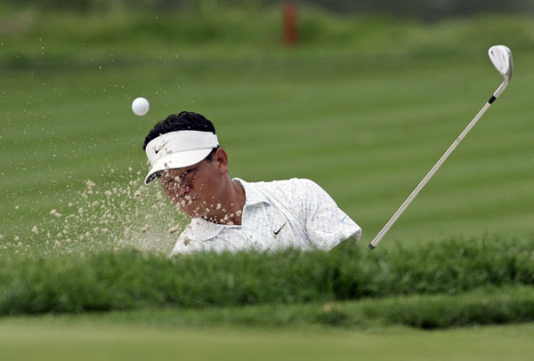 Round 2 of the Barclays, the first tournament of the FedEx Cup playoffs                                              K.J. Choi shot a five-under 66, which included an eagle on the par-4 seventh.