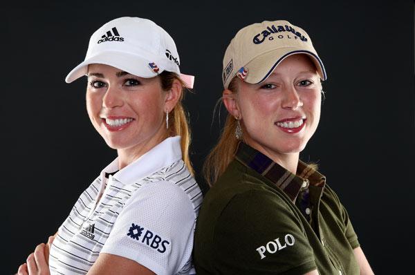 Morgan Pressel, right, and Paula Creamer