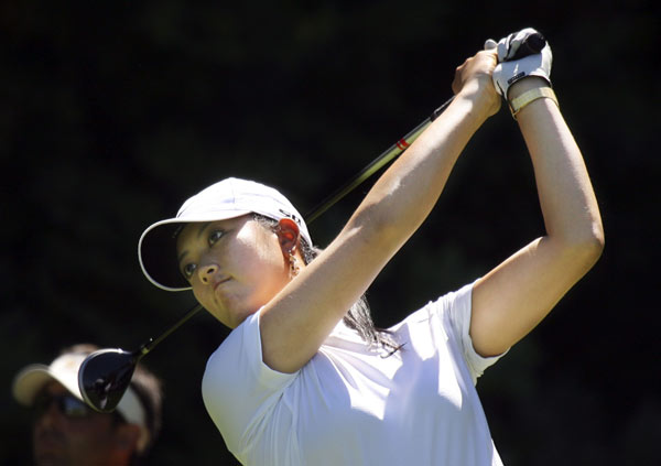 Michelle Wie struggled again, shooting a seven-over 79.