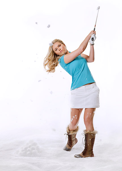 "No. 1 Ace Golfer: Lindsey Vonn                       ""I hit a 5-iron. I thought, 'Oh, that'll be close.' Then my teammates started freaking out and saying, 'You got a hole-in-one!'""                                              Lindsey Vonn, 26, won the gold medal in the downhill at the 2010 Winter Olympics."