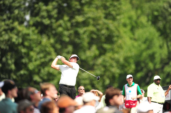 Phil Mickelson shot a one-under 70 on Friday to move to five under for the tournament.