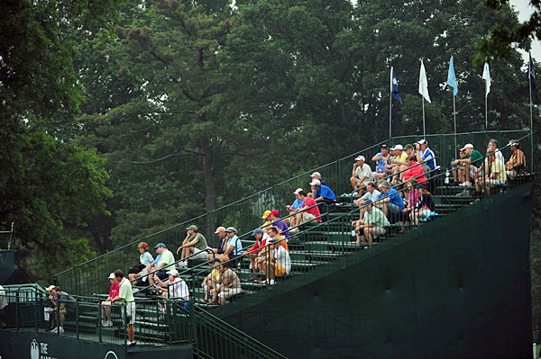 Despite hurricane warnings for New Jersey, fans still came out to watch the final round.