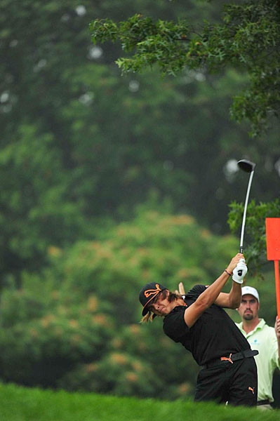 Rickie Fowler shot a three-under 68.