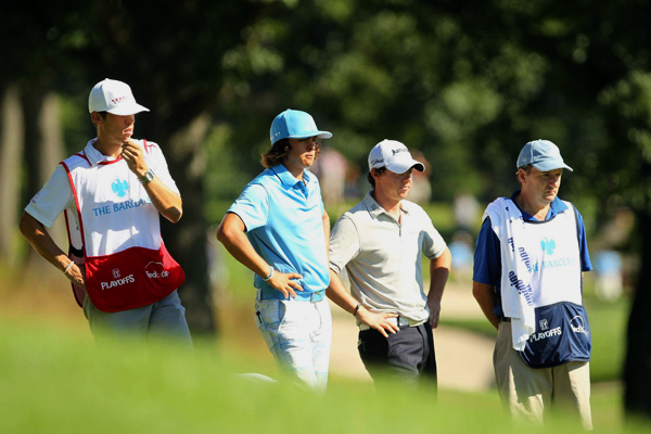 Young guns Rickie Fowler, left, and Rory McIlroy were paired together for the first two rounds. Fowler finished one stroke ahead of McIlroy.