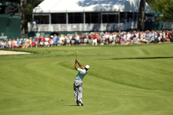 Woods has hit 93 percent of the fairways through two rounds.
