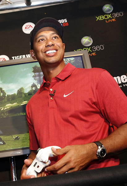 Woods's video game went on sale Tuesday.