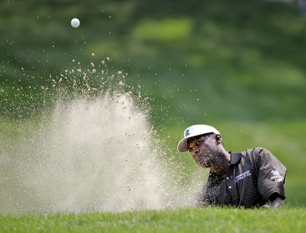 Vijay Singh joined Mickelson at four over after two double bogeys on the back nine.
