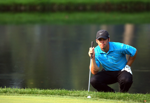 Paul Casey backed up with a one-over 71, but he's still in contention at two under.