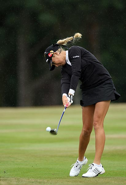 She tied for ninth at this year's Women's British Open in July at Sunningdale.