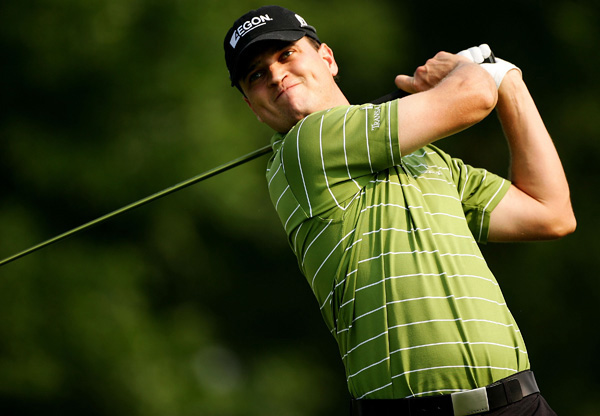 Masters champ Zach Johnson posted the best round so far with a five-under 65.