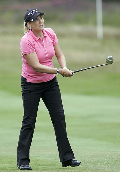 The leading American was Cristie Kerr. She finished four strokes off the lead at two-under par.