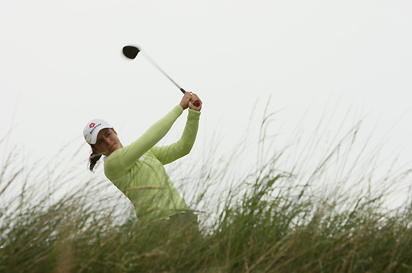 Lorena Ochoa protected her lead at the Women's British Open Friday by shooting an even-par 73 to remain at six under for the tournament.