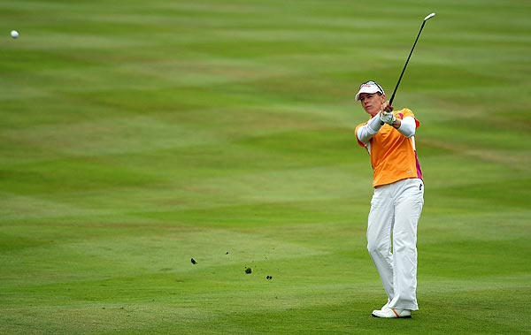 Annika Sorenstam, playing in her final British Open, shot a fourth-round 68.