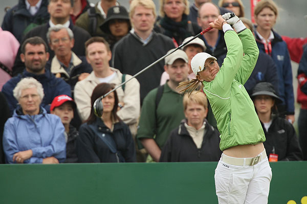 Linda Wessberg, Ochoa's playing partner, fell out of contention after a double bogey on the par-5 13th hole.