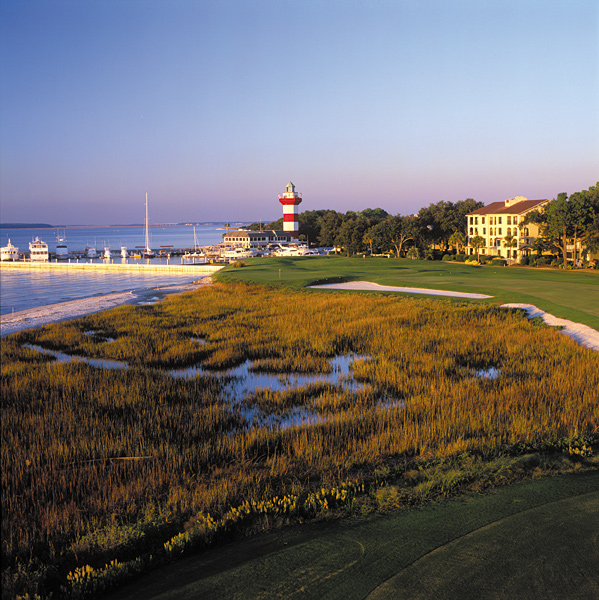 Before you visit Hilton Head, here's a preview of some of the golf courses you can play.                                                      Harbour Town Golf Links                           Hilton Head Island, S.C.                           Green fees: $125-$255                           866-561-8802, seapines.com
