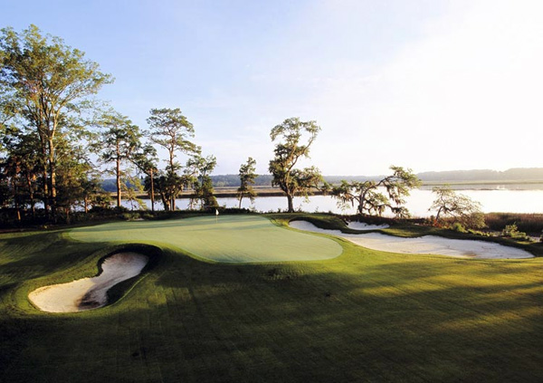 May River Golf Club at Palmetto Bluff                       Bluffton, S.C.                       $260                       palmettobluffresort.com                                              Massive oaks and holes that ease past the oyster-filled May River are the pearls of this seven-year-old track near Hilton Head.