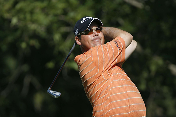 Rich Beem, the 2002 PGA champ, followed a three-under 33 on the front with a nine-over 44 on the back. He is six over and 11 shots off the lead.