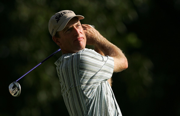 Jim Furyk, who withdrew last week with a back injury, shot a five-over 75.