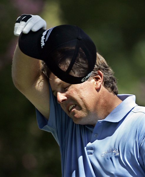 Phil Mickelson had six bogeys and three birdies to shoot 73.