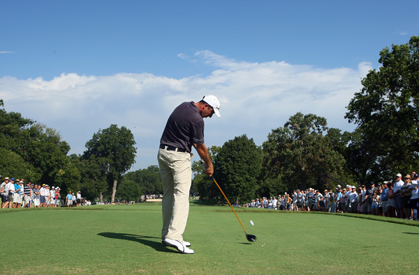 Geoff Ogilvy had an up-and-down round with seven birdies and six bogeys.