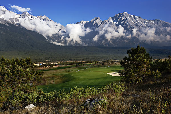 Jade Dragon Snow Mountain Golf Club                       Kunming, Yunnan                        01186-871-3529806                                              One glance at the scorecard tells you all you need to know about Jade Dragon: it's the longest course in the world from the tips, at 8,548 yards, par 72. Designed by Neil Haworth, it sits in the shadows of the Himalayas in southwest China, at an elevation of 10,000 feet (there are oxygen bottles on the carts). Three par 3s check in at 260 yards or more, and there's an endless roster of muscular two-shot holes. When the clouds lift, the snowcapped mountain vistas are overwhelming.