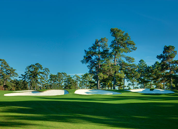 Augusta's Other Architects: Aside from Alister MacKenzie, 10 other practicing architects have tinkered with Augusta National. Most underrated was Perry Maxwell, who converted the ho-hum par-4 7th into a terror, with its shallow, elevated green fronted by deep bunkers. He also relocated the 10th green some 50 yards up a hill and to the right. The most prominent change was made by Robert Trent Jones Sr., who in 1947 transformed the par-3 16th from an easy 145-yard pitch over a creek into a 170-yard shot over a pond, with a brand new tee and a new green well to the right of the original.