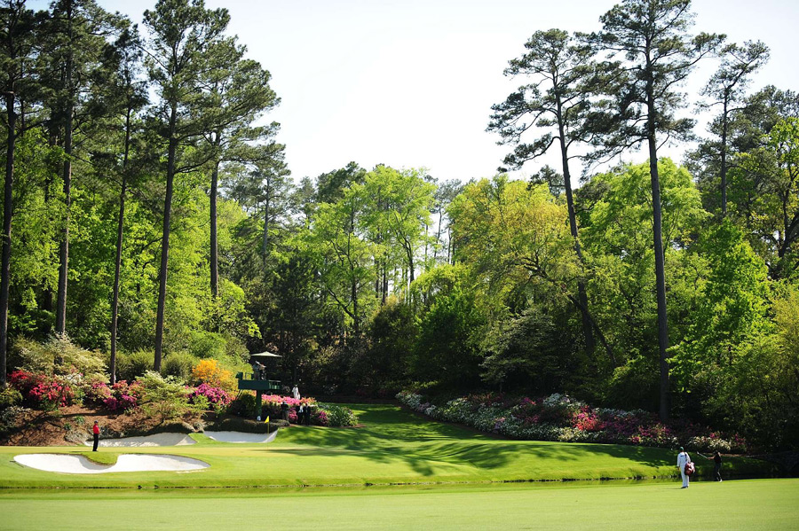 Augusta National Golf Club -- No. 12, 155 yards -- Augusta, Ga.                       Ben Hogan said he'd never swing here until he felt the wind breathe on his cheek. But you're not Hogan, so you'll barely be able exhale if you ever get on this tee, let alone pay attention to the gentlest breeze. The hole exceeds even your wildest expectations after all the years you've worshipped it on TV. You waggle, hit and hope to clear Rae's Creek. OK. Time for you to breathe again.