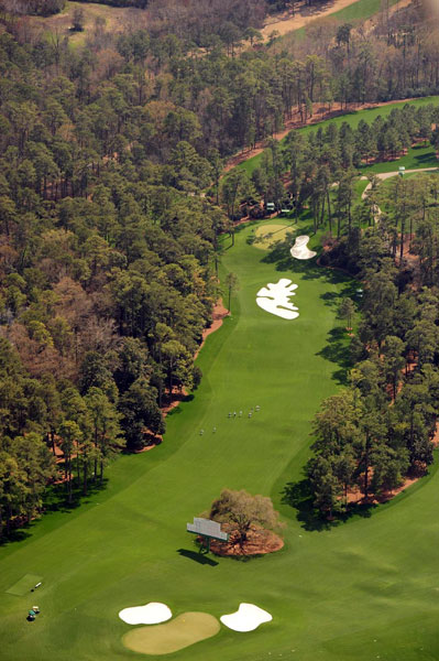 No. 10                       Camellia                       Par 4                       495 yards                                              Bottom: No. 18 green