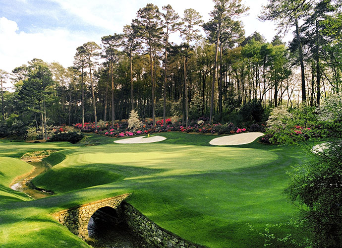 Augusta National Golf Club in Augusta, Georgia: Where should I begin with Augusta? Every hole seems to have a personality of its own, and the atmosphere on tournament days adds a dimension unlike any other event. It's Beauty and the Beast stuff. I said before that I could play the par-5 13th all day. I think I still feel that way. There's danger left and trouble if you're too straight. But if you can move the ball right to left, there's a great chance of making the green in two. And what a green! Unless you're in close with your approach, two putts is a good result.