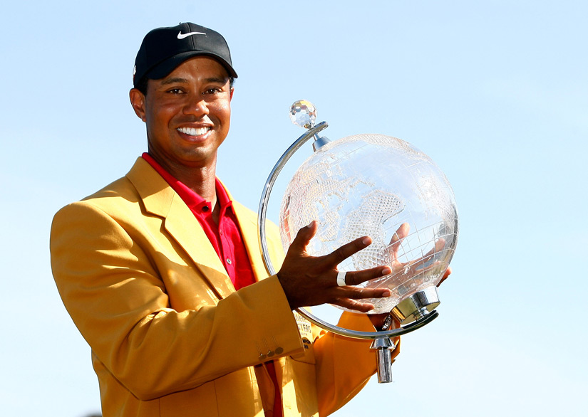 Several tournaments award gold jackets, including the Australian Masters, won by Woods in 2009.