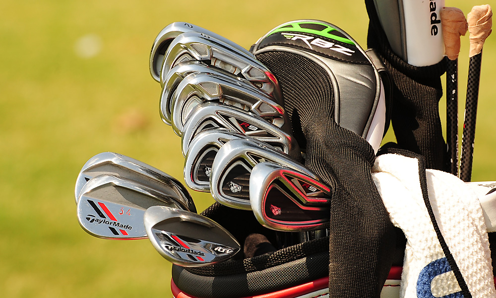 Jason Day plays TaylorMade Tour Preferred long irons and R9 TP mid- and short irons. He also carries TaylorMade ATV wedges.