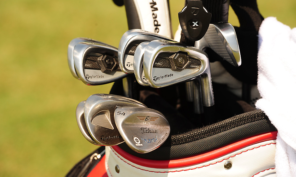 Dicky Pride uses TaylorMade Tour Preferred Forged MC irons and a Titleist Vokey Design SM4 lob wedge.