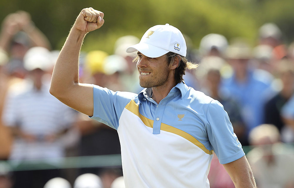 Aaron Baddeley: C                       Record: 1-3-1                       Some big putts but RMGC too much golf course for an iffy ballstriker.