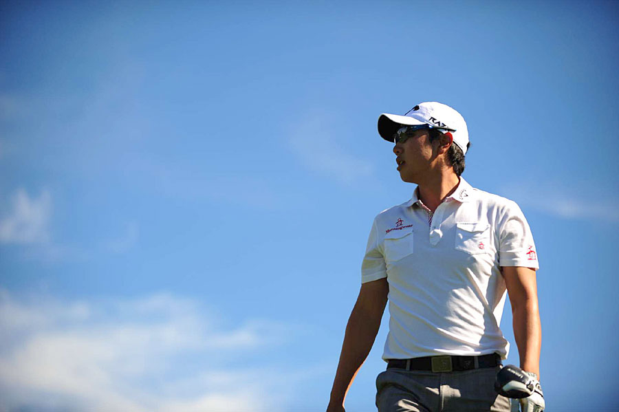 Sang-Moon Bae shot a five-under 67 on the tougher South course.