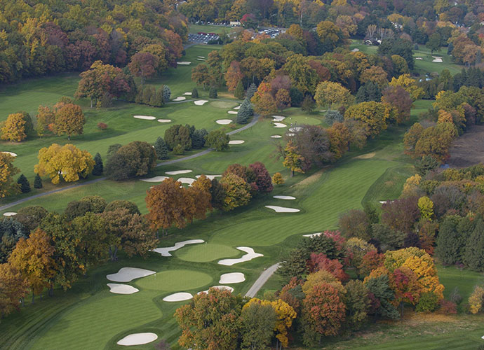 "4. Baltusrol Golf Club (Lower Course), Springfield, N.J., 1922                           Having hosted both U.S. Opens and PGA Championships, this sturdy, leafy test is not for the faint of heart. Its 600-plus-yard par-5 17th was considered ""untouchable"" in two until the 1993 U.S. Open when John Daly blasted a 1-iron 303 yards to shatter that label. What the layout may lack in beauty it more than makes up for in toughness."