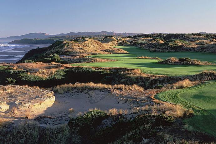 "Bandon Dunes -- Bandon, Ore. -- bandondunesgolf.com                           As your round begins, on an amiable par 4, followed by a manageable, mid-range par 3, you think, ""Well, this is nice."" Then you come to the par-4 fourth, whose fairway elbows hard right, then rushes toward the ocean, and you find yourself thinking of the Bandon slogan: ""This is golf as it was meant to be."""