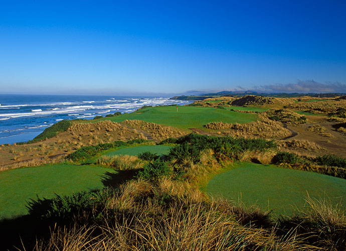 20. Bandon Dunes, Bandon, Oregon, U.S.: Ranked 63rd in the world, Bandon's original course is a David McLay Kidd design draped atop craggy headlands above the Pacific. Ocean views stun the senses, along with bluff-top sand dunes sprinkled with Scotch broom and gorse bushes, coastal pines, crashing surf, wind-whipped tall native grasses, and stacked sod bunkers.