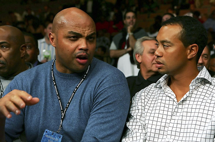 """Even when was a friend of mine, he wasn't a very sociable guy. He just had a one-track mind. He just wanted to break Jack Nicklaus' record.""                           --Charles Barkley on Tiger Woods. Photo of Woods and Barkley in Las Vegas in 2006."