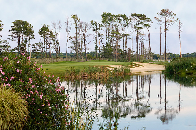Bay Creek Resort -- Cape Charles, Va. -- baycreekresort.com                           His rival, Jack Nicklaus, also has a course here. But Palmer got his hands on the property first, christening his layout in 2003 on a stunning swatch of land beside Chesapeake Bay. The paths are made from sea shells. The water views are striking. Play a twilight round, with gulls wheeling just above you and an orange-red sunset bleeding on the bay. Few courses have such a vivid sense of place.
